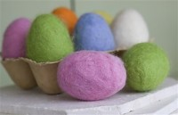 Crafts Felted Eggs